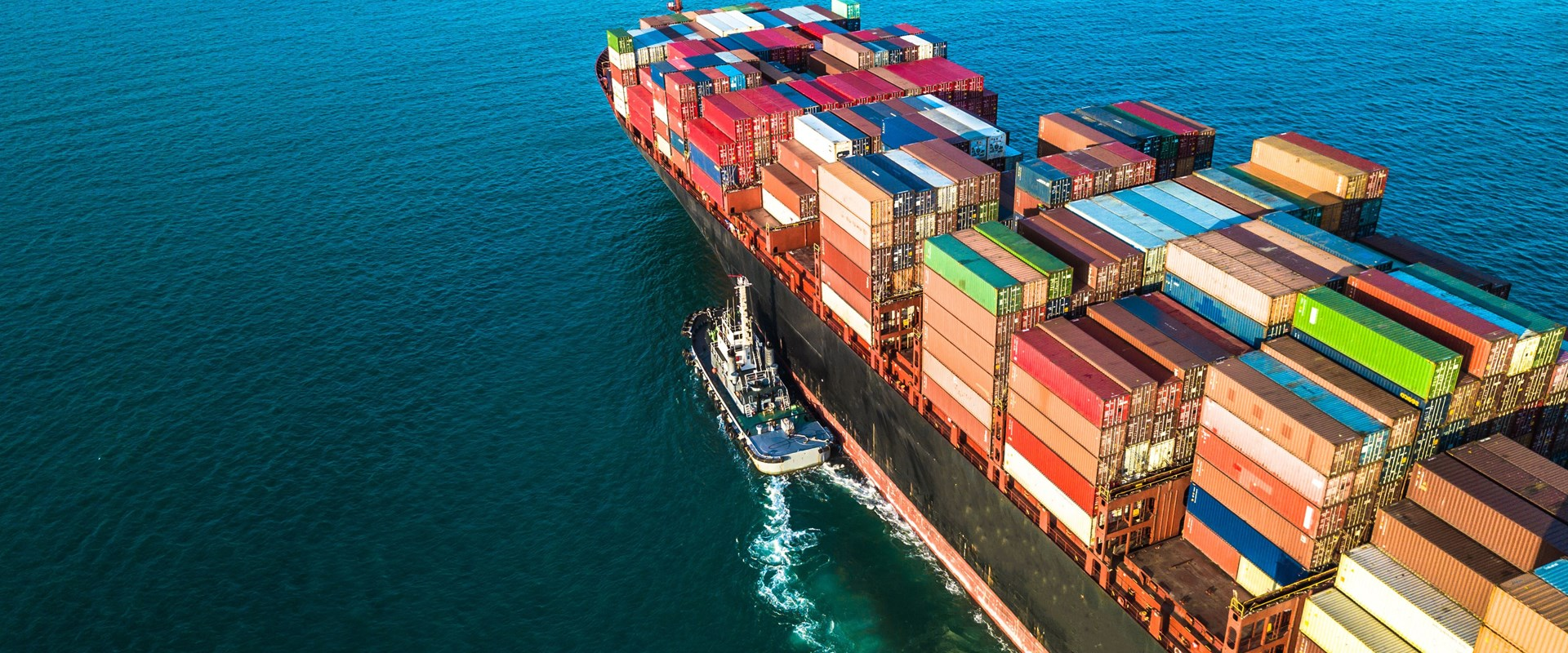 Container ship full with cargo