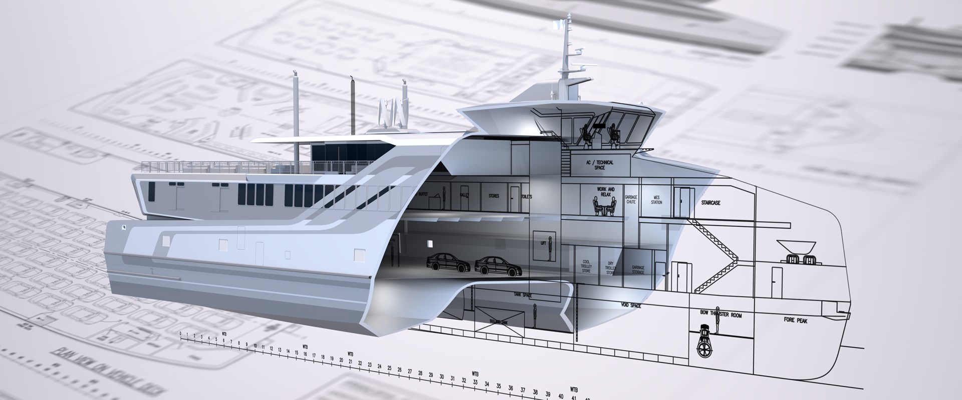 Specialised Ship Design Cutaway Render Proven Vessel Design