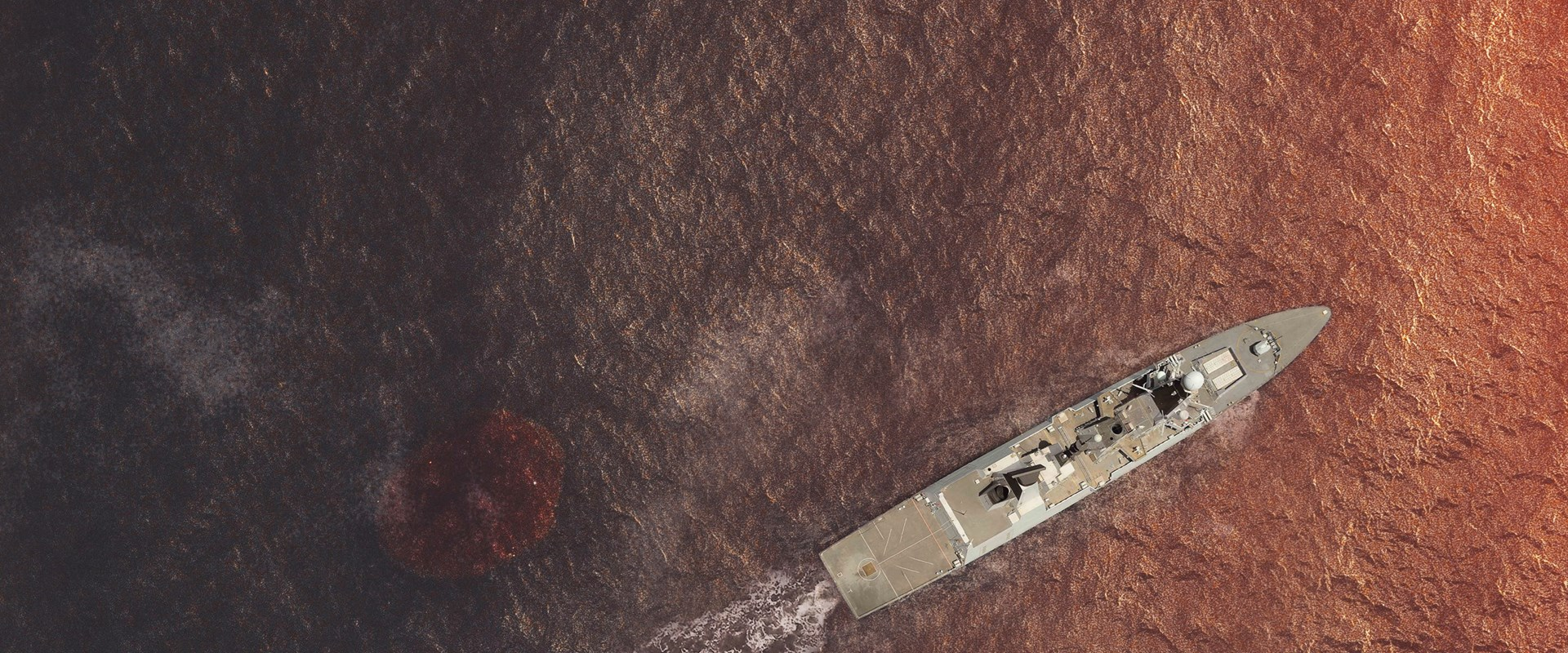 Bird eye of a ship