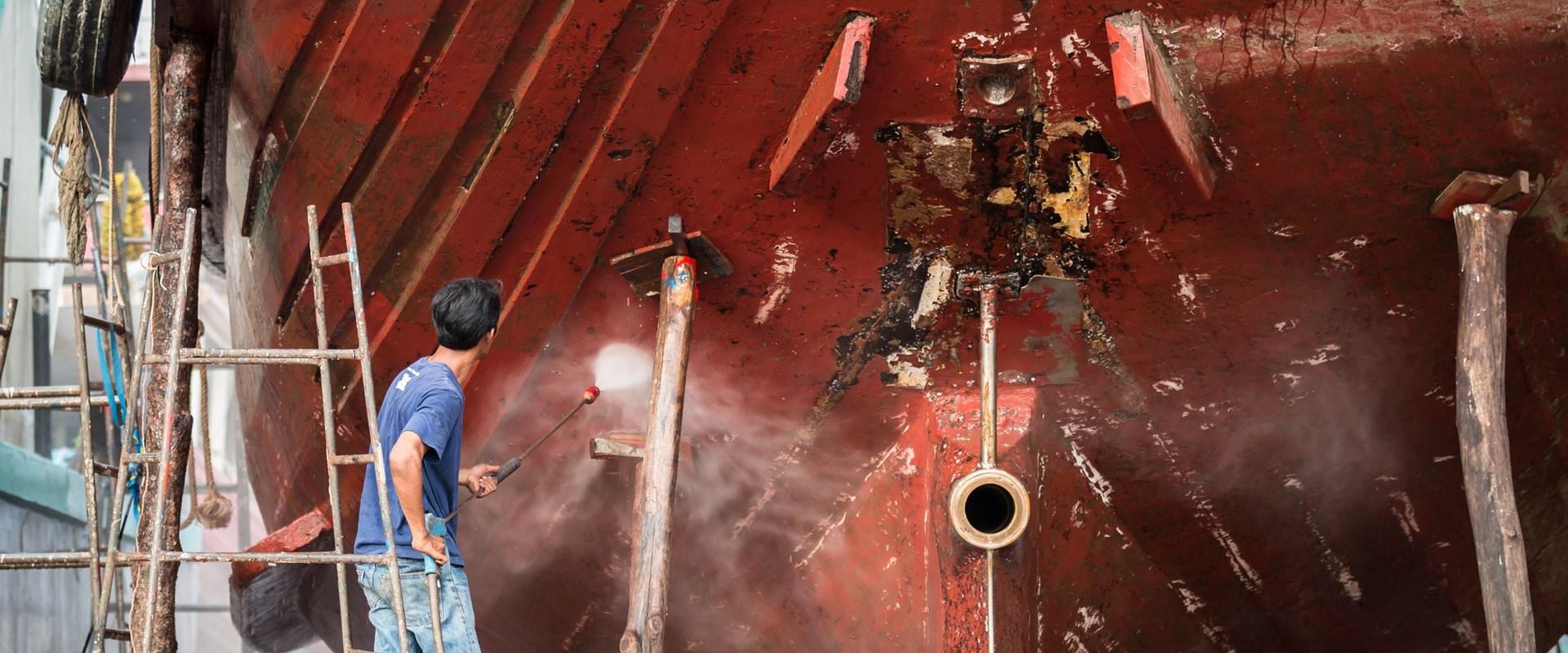 Claims ship repair yard